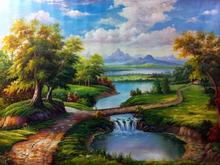 Pintura a óleo Handmade Europa sobre tela pintura de paisagem clássica For Living Room Decor Wall Art Pendure Pictures Home Decor(China (Mainland))