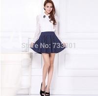 Polka Dot Short skirt Printed cotton wool skirt chiffon skirt Free shipping