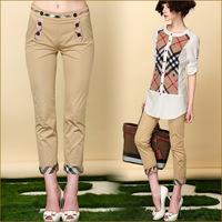 New 2014 pencil Pants & Capris Spring summer autumn Fashion  Rhinestones Skinny  Slim Harem casual pants lady work wear