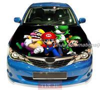 PVC Self-Adhesive Vinyl Car Hood Stickers Design For All Car Model Anime Mario