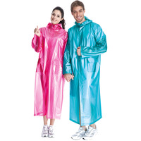 Portable poncho translucent Burberry adult travel raincoat trench type poncho disposable raincoat
