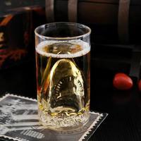 Free shipping Creative Shark glass beer mug cup Whisky cup Wine glass
