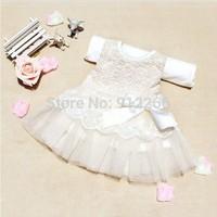 summer dress 2014 baby girls dresses ,girl sleeveless ruffle  bow lace tutu dress pink beige,13SEPT3-LQ-2