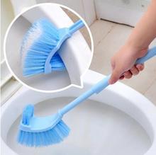 Free Shipping Unique back design toilet brush bristles longer handle New 2014 Toilet brush  Hot Sale clean toilet brush(China (Mainland))