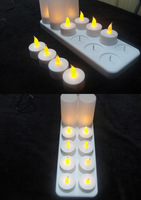 Rechargeable LED candle light / 12 PCS rechargeable LED tealight candle