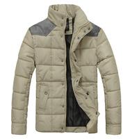 L0677, free shipping men thick winter coat, casual men cotton padded jacket, men stand collar earm winter jacekt