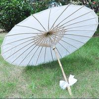 50pcs/lot Free shipping paper umbrella/parasol/white paper parasol wedding