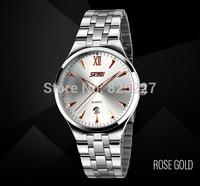 Fashin brand  white stainless steel luxury business watch man