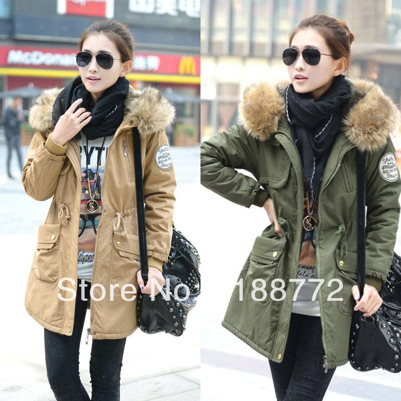2013 de invierno ropa casual arrugado chaqueta mujer tallas grandes la chaqueta arrugada medio- largo de algodón- chaqueta acolchada abrigo de algodón