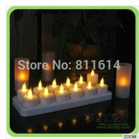 Rechargeable led candle light  12pcs /set