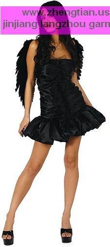 Halloween! Custo de transporte gratuito nova venda quente pássaro preto cor preta asa com vestido de traje zt8172 tamanho m( tamanho)(China (Mainland))