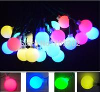 Christmas decoration RGB outdoor Globe String light solar power RGB ball string light