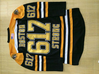 Ice Hockey Jersey Boston 617 Be Strong Black Jersey Free Shipping Cheap Customized Sportswear