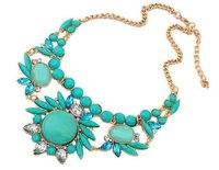2014 New Brand Big Statement Women Necklaces & Pendants Chunky Shourouk Fashion Vintage Crystal & Resin Jewelry Wholesale
