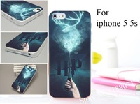 10 PC For iphone 5 5s 5g 5th Hard Transparent Case cover Harry Potter Movie Poster Magic Wand Unique style