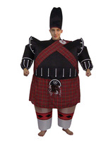 Inflatable Halloween dress ChengRenZhuang bagpipe inflatable suit Scottish bar clothing style dance party