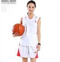 Fashion cheap Basketball Clothes Set Women's Basketball Jersey Shorts , New 2014 Brand Jerseys Sets
