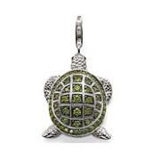 European style fashion 925 silver turtle pendant charm (2x1.5cm) fit charm bracelet for women TSCH100(China (Mainland))