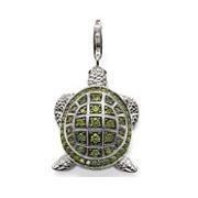 Европейский стиль мода серебро 925 черепаха шарм ( 2 x 1.5 см ) подходят браслет ...