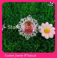 Free Shipping Flower Silver Napkin Rings 100pcs/lot