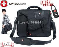 """7312 Black SwissLander 15.6"""" Laptop notebook computer bag,laptop messenger,case computer 15.6,notebook case 15.6New Layer"""