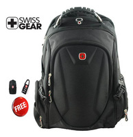 Free shipping SwissGear 15.6 inch laptop bag  Multifunctional  Schoolbag  Official backpack  9508