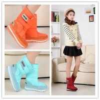 2014 NEW hot sale brand fashion women's warm berber Fleece snow boot size 35-46,7 color Plus Size Winter Waterproof Boots XFX089