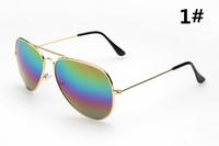 3025 New 17 colors Frog Mirror Aviator Sunglasses Vintage Eyeglasses Women Men brand designer Sunglasses,Wholesale Gafas de Sol
