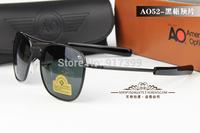 Military style aviator sunglasses men polarized AO brand oculos de sol pilot