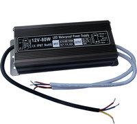 IP67 12V80W Waterproof electronic LED Power Supply/ Led Adapter Lighting Transformer