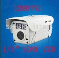 "Wholesale - 1/3"" SONY CCD HD 1200TVL CCTV High Resolution 2 Array LED IR 30M Weatherproof Outdoor IR Camera 4/6/8/12/16mm Lens"