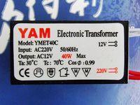 Free ship,40W AC 220V - 240V to 12V Halogen Crystal lamp Light Electronic Transformer LED Driver Power Supply