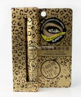 Leopard Design Long Curling Eyelash Black Fiber Thick Mascara Eye Lashes lengthening mascara 2014 New Free Shipping