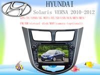Free Shipping for Hyundai Solaris  dvd player ( 3G WIFI optional ) ipod gps sd usb mp3/4 FM/AM BT 4gb map camera