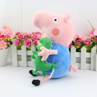 Retail  1pcs  George pig 28CM Peppa pig plush Peppa and George Ballerina Peppa and Pirate Geogre