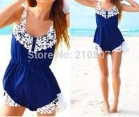 2014 New Women Summer  Lace Chiffon Romper Free Shipping