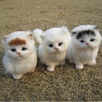 Artificial animal toy cat mew plush toy child cat