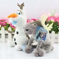 20CM Milu sven Plush Toys  Snowman Plush Doll olaf plush Toy Free Shipping 2pcs/lot