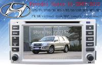 Free Shipping Car DVD for Hyundai Santa fe 2007-2012 with Russian MEMU 3G WIFI GPS radio BT TV iPod AM/FM 4gb map camera