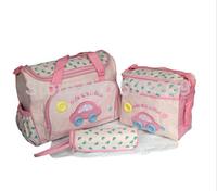 free shipping retail mommy bag set 4pcs/set car print mother bags diaper bag