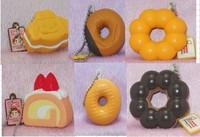 20pcs/lots 4cm kawaii PU cake and donut  squishy