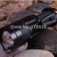 Mini LED Torch 7W 400LM CREE Q5 LED Flashlight Adjustable Focus Zoom flash Light Lamp free shipping wholesale