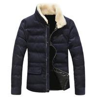 men winter jacket plus size M-5XL,thick warm winter coat fur corduroy overcoat men,free shipping,male coat cotton padded,L0680