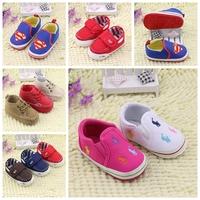 Free Shipping Retail Rubber sole Prewalker Shoes Reborn Baby Girl brand boy  Size 12.5,13.5,14.5cm  First Walker 0-2 year R4865