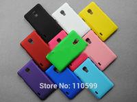 For LG Optimus L7 II Single SIM Cover,New Rubber Mate Hard Back Cover Case For LG Optimus L7 II Single SIM P710 P713 free