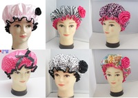 free shipping 6 pcs per set hot sale fashion shower cap