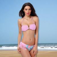 Free Shipping Drop shipping Factory Wholesales Classic fashion design Tassel Bikini Swimwear Bandeau Cheap Sexy Swimsuits 1427G