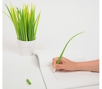 10pcs/1lot Grass-blade pen leaf Ball point pen | creative cute Korean stationery