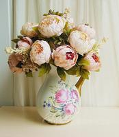 1 Boutique 48CM European Home Decor Decorative Flowers Wreaths Peony Silk Flower Artificial Flowers