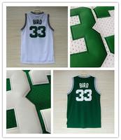 Boston 33 Larry Bird basketball Jersey green white Split all star throwback Blue bullets team usa Basketball jersey